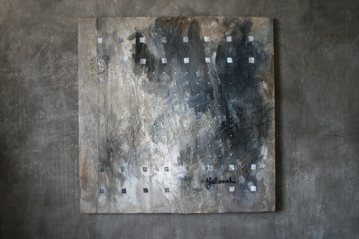 Inspiration 125-125cm, Mixed technique, canvas, oil, 2015 Yalanzhi