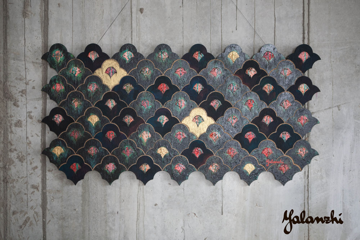 Sensuality decorative panels 54-120cm, Mixed technique, 2014 Yalanzhi